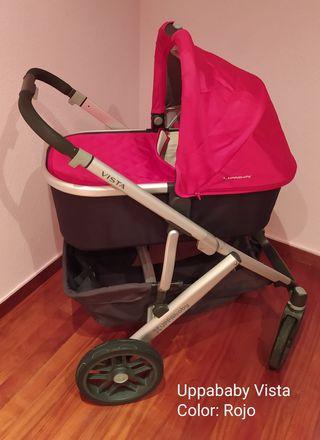 Uppababy Vista Rojo (capazo, silla y huevito)