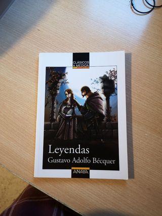 libro leyendas de Gustavo Adolfo Bécquer