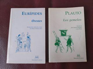 Lote 2 libros Ed. clásicas Orestes y Los Gemelos
