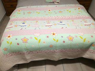 Colcha de cama infantil para niña