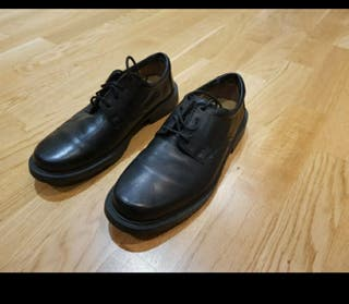 Clarks smart shoes black