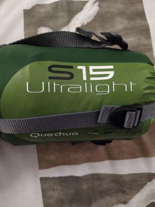 Saco de dormir Quechua S15 Ultralight talla L