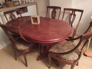 Mesa de comedor extensible + 6 sillas