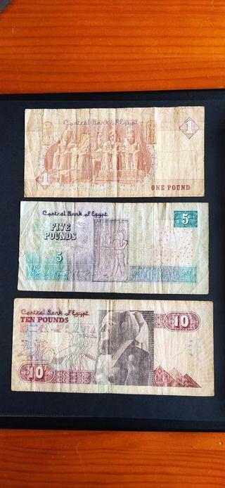 tres billetes de Egipto