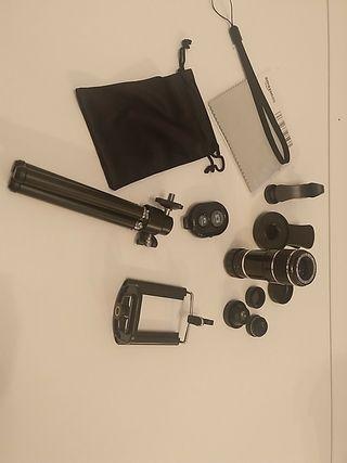 Kit lentes y accesorios fotografía móvil