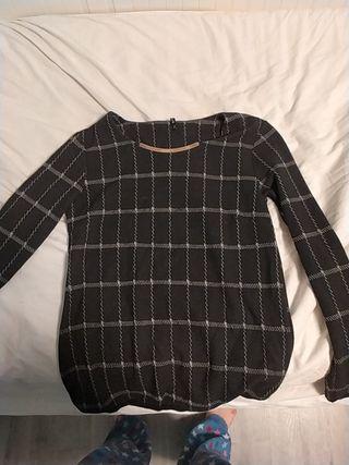 Jersey/Camiseta negra a cuadros