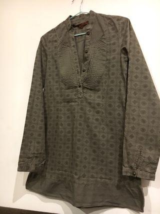 Camisa marrón de algodón - 36/S-M