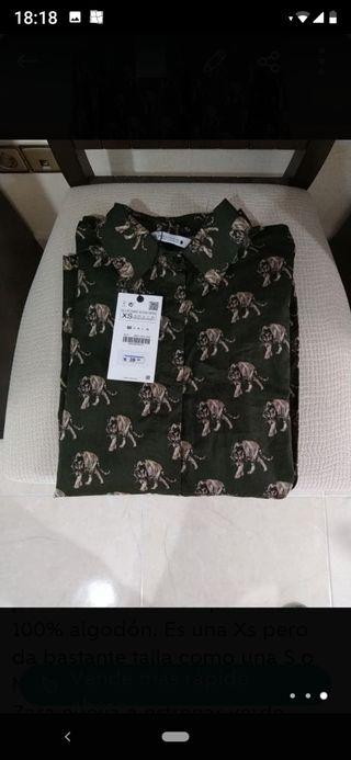 camisa mujer Zara 100% algodón