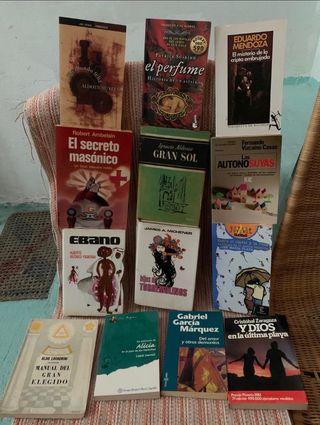 Libros variados.3€unidad.
