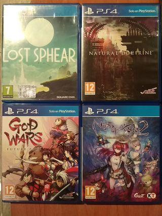 Lote juegos jrpg para PS4