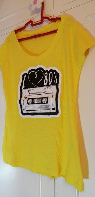 camiseta i80`s mujer