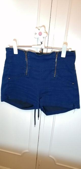 pantalón corto talle alto mujer