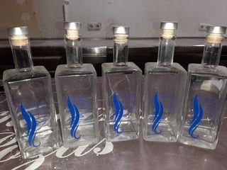 botellas de cristal decorativas