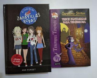 LOTE DE 2 LIBROS DE LITERATURA INFANTIL/ JUVENIL