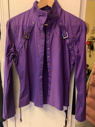 Camisa Pedro del Hierro talla 42 morada tornasol