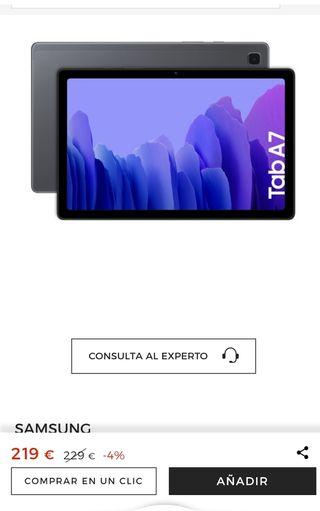 Tablet samsung tab a7 32 gb nueva a estrenar.