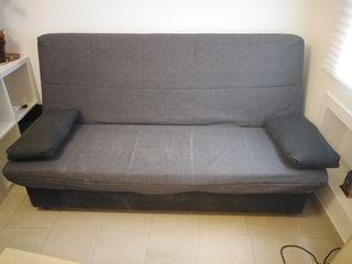 Sofa cama libro con arcón 185x125