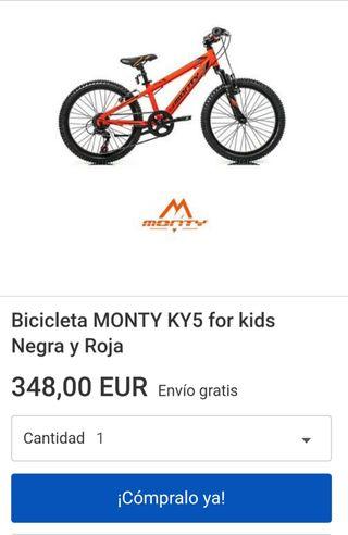 Bicicleta MONTY KY5