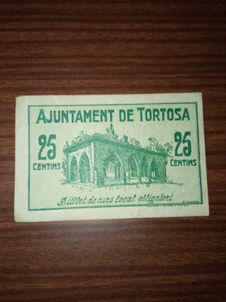 billete TORTOSA