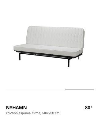 Colchón NYHAMN para sofá de IKEA 140x200