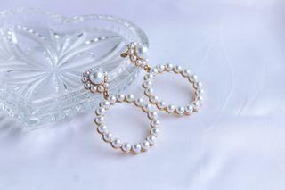 Pendientes perlas estilo vintage