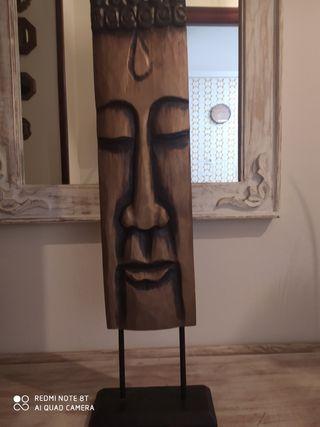 Talla de madera Buda