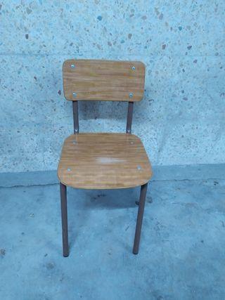 silla infantil metálica