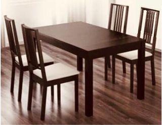 Mesa extensible con 6 sillas
