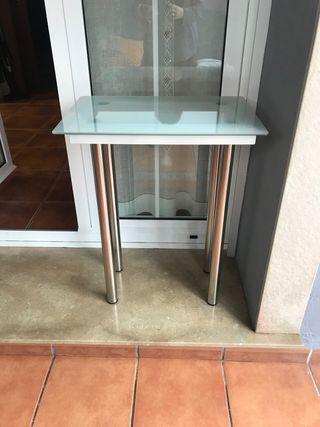 Mesa auxiliar aluminio