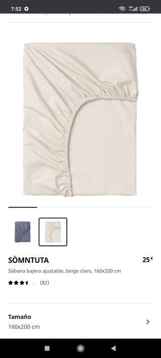 Sábana bajera 100% algodón
