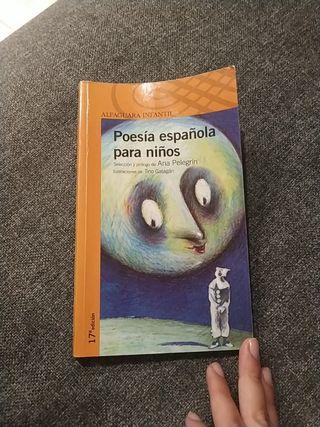 """Libro """"Poesía española para niños"""" Alfaguara"""