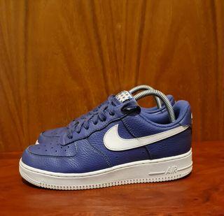 Nike Air Force 1 07 Women Men White/Blue Recall