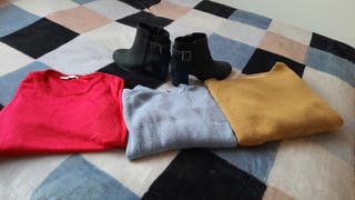 COLORFUL SWEATERS AND ANKLE BOOTS