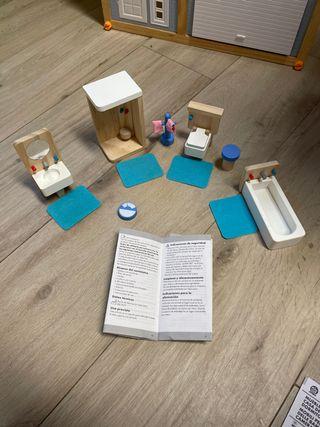 Muebles para casa de muñecas:Cuarto de baño de segunda ...