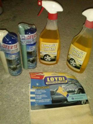 Productos limpieza vehiculos