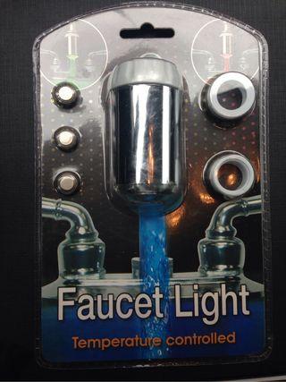 Aireador para grifos con luz