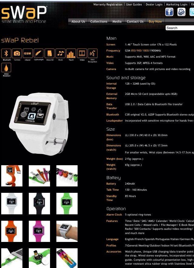 Reloj telefono de pulsera SWAP REBEL