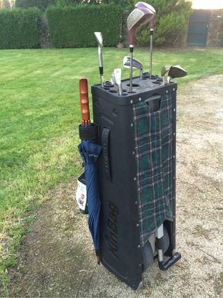 Palos golf -Bolsa con carro incorporado