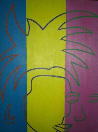 Cuadro Warhol surrealista