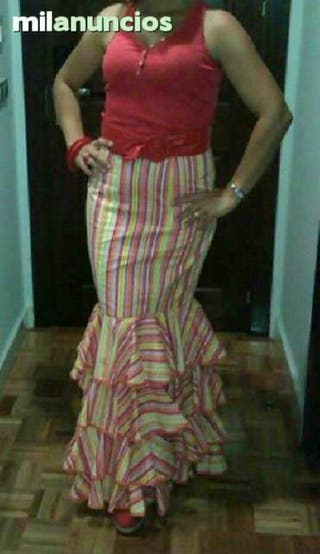 Falda flamenca moderna