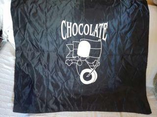 Bandera y chaleco de la discoteca chocolate