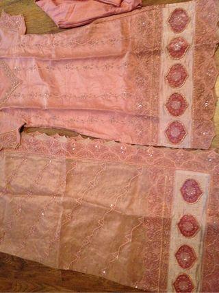 Tea pink walima dress