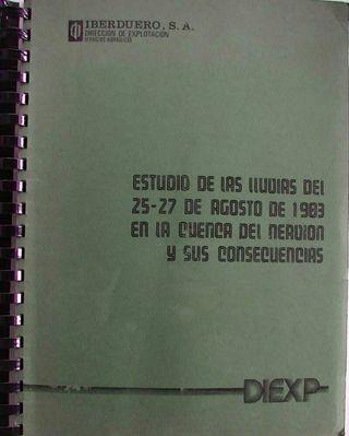 Estudio de las lluvias del 25 al 27 de agosto de 1983 en la cuenca del nervión y sus consecuencias.